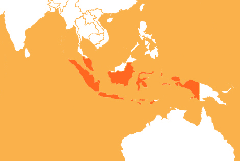 Indonesia country map