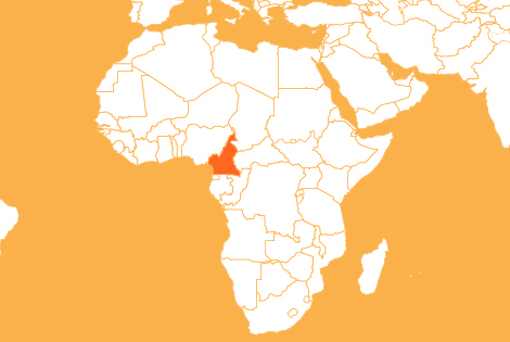 Cameroon country map