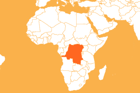 DRC country map