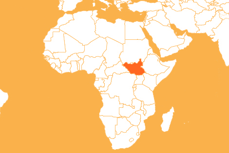 South Sudan country map