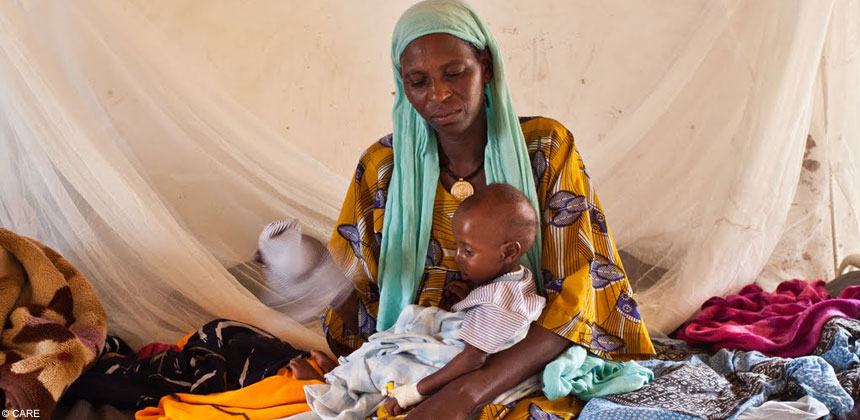 Woman and child in Chad
