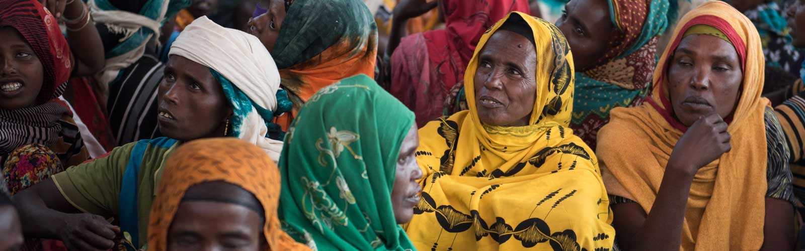 Women in Ethiopia at a savings group meeting