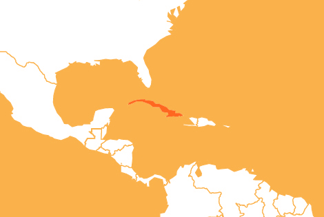 Cuba country map