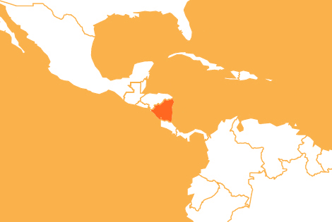 Nicaragua country map