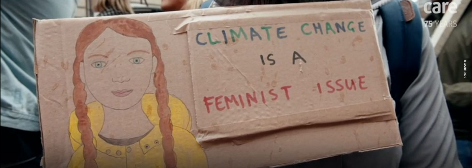 Climate change is a feminist issue - placard