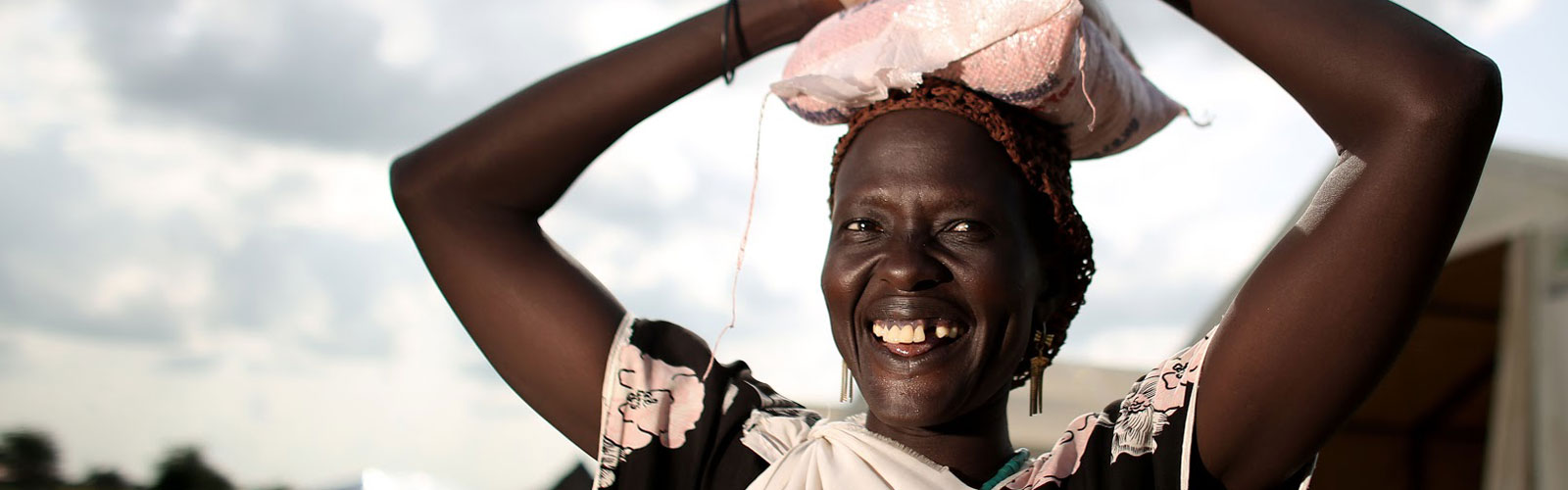 A woman in South Sudan