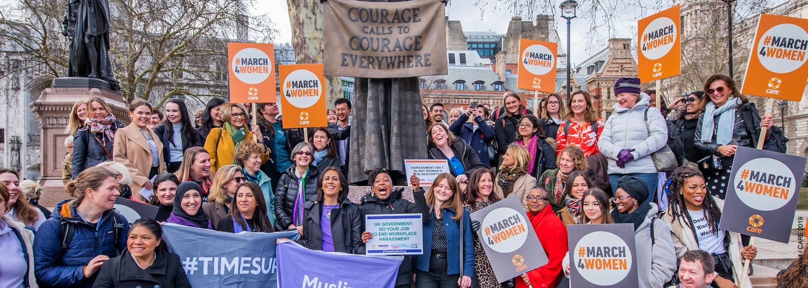 Campaigners on CARE lobby action day