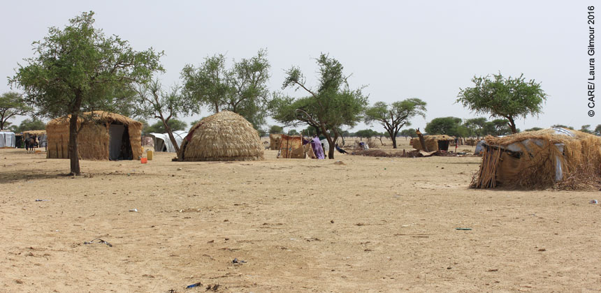 An informal settlement for recently displaced people in Niger