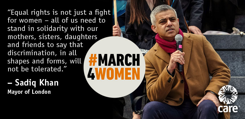 Sadiq Khan quote for #March4Women
