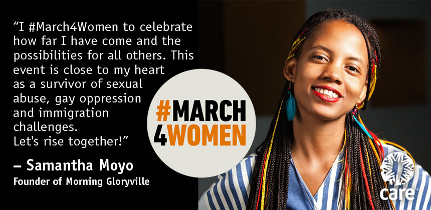 Samantha Moyo quote for #March4Women