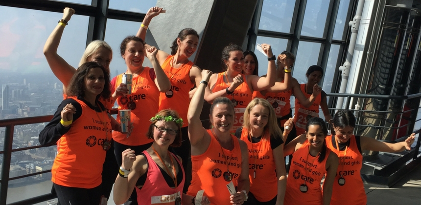 Stair climb challenge at the Leadenhall Building in London in 2018