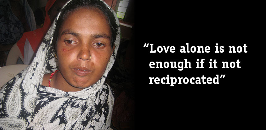 Amina Khatun from Nepal was left by her husband, who initially refused to pay her anything towards to upkeep of her son