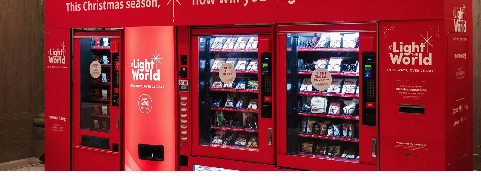 #LightTheWorld vending machine