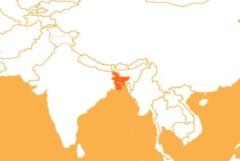 Bangladesh country map