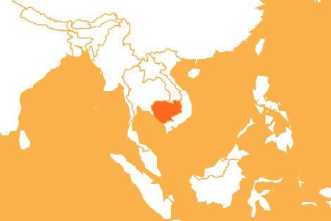 Cambodia country map