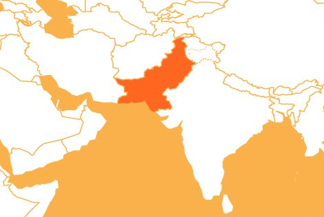 Pakistan country map