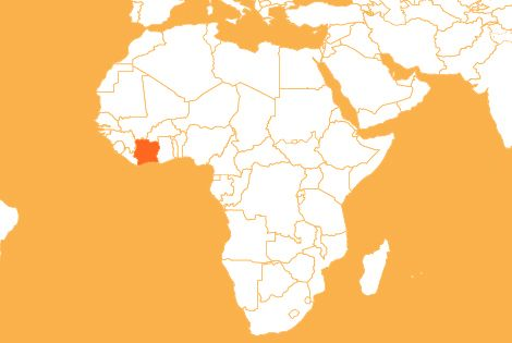 Cote dIvoire country map