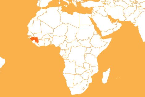 Guinea country map