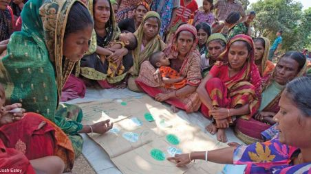 A meeting of a women's group in Bangladesh