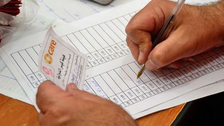Keeping track of vouchers given to Syrian refugees in Lebanon