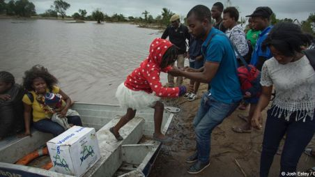 People rescued from boat after cyclone