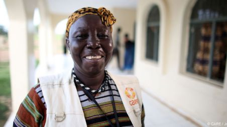CARE midwife Agnes Kaka in South Sudan