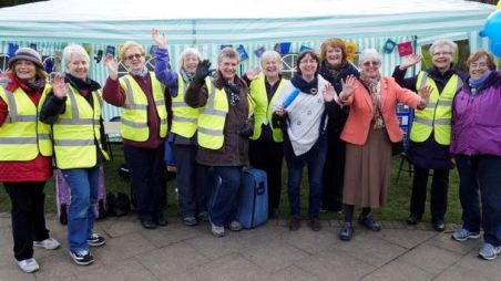 Ilkley Soroptomists at an event organised to support CARE