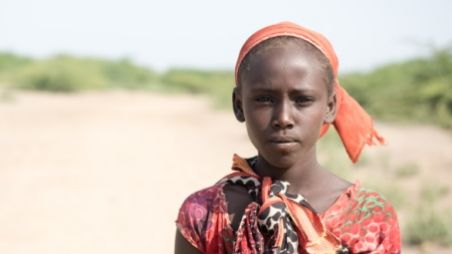 A young Ethiopian girl