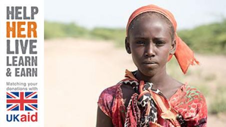 A young Ethiopian girl - Help her Live, Learn and Earn - UKAID