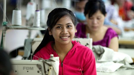 Garment worker in Cambodia