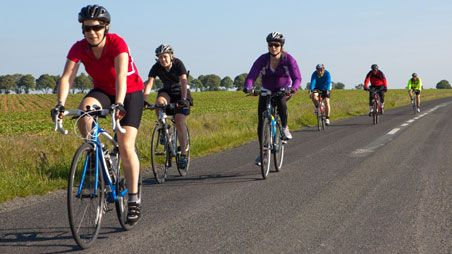 A group of cyclists