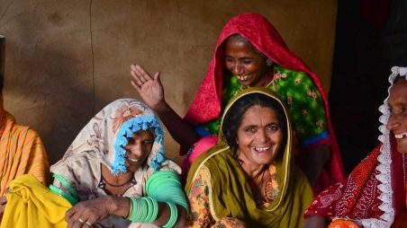 Women members of a savings and loan group in Pakistan