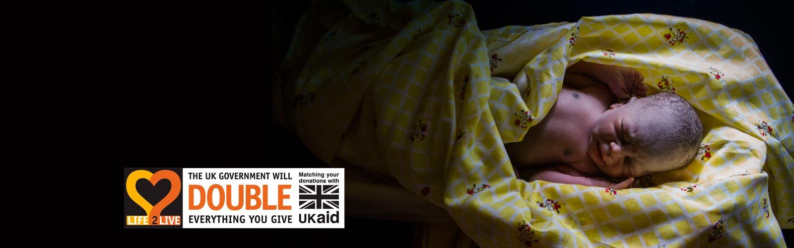 Life2Live campaign - baby Toby in South Sudan