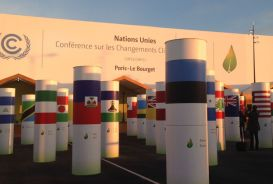 Entrance to the COP21 conference centre