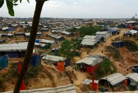 Screenshot from video of Bangladesh refugee camp