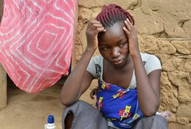 Nadej, a young woman in the DRC