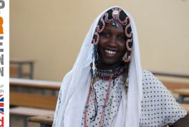 Rabya, age 18, in the classroom in Ferehenu, Ethiopia