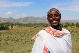 Tanugt, a member of a VSLA group in Ethiopia