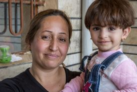 A woman and child in Iraq