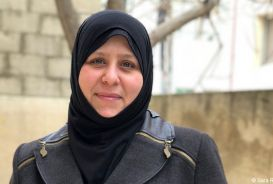 Yasmin, a member of CARE's Women Leadership Council in Jordan