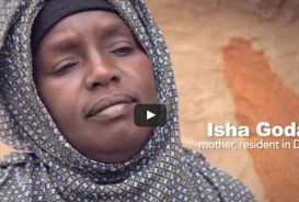 Youtube video still of Isha Godana in Dadaab