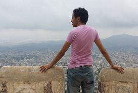 Mohammed Almahdi at Al Qahira castle in Taiz, Yemen