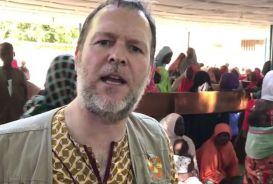 Photo from video of Laurie Lee in Nigeria