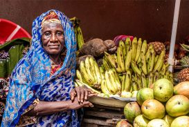 Memunatu Bangura, a fruit seller in Freetown, Sierra Leone