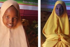 Hafsa and Suherya, two girls in Somalia