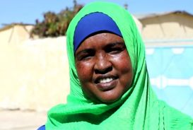 Portrait of Nasra Isse in Somalia