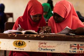 Girls at school in Somalia