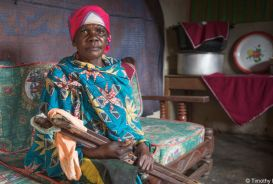 Portrait of Josafina, a disabled woman in Tanzania
