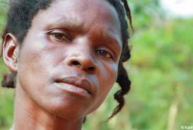Portrait of Cecile, a refugee from the DRC