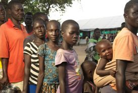Refugees at Imvepi settlement in Uganda